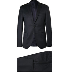 Hugo Boss - Blue Rocco Wyatt Slim-Fit Pinstriped Virgin Wool Suit