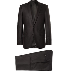Hugo Boss - Black Slim-Fit Stretch Wool and Cashmere-Blend Flannel Suit
