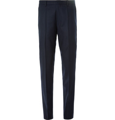 Hugo Boss - Blue Genesis Slim-Fit Virgin Wool-Flannel Trousers