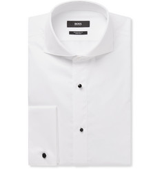 Hugo Boss - Grant Cutaway-Collar Double-Cuff Cotton Tuxedo Shirt