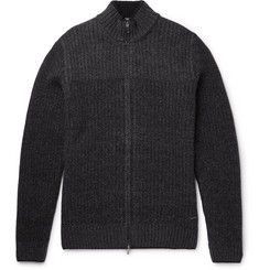 Hugo Boss Wool and Cashmere-Blend Zip-Up Cardigan