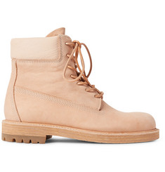 Hender Scheme MIP-14 Leather-Trimmed Nubuck Boots