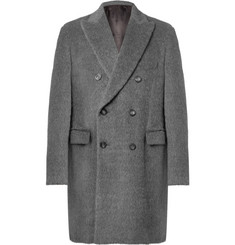 Helbers Double-Breasted Alpaca and Wool-Blend Overcoat