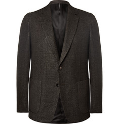Helbers Brown Slim-Fit Wool, Linen, Silk and Cashmere-Blend Blazer