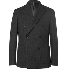 Helbers Grey Slim-Fit Unstructured Cotton, Alpaca and Wool-Blend Jersey Blazer