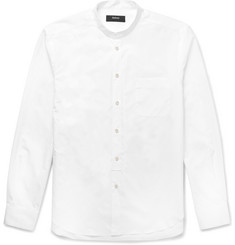 Helbers Grandad-Collar Cotton-Poplin Shirt