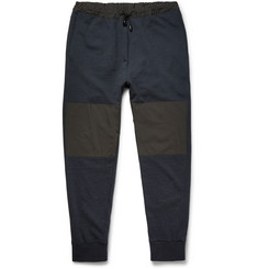 Helbers Slim-Fit Tapered Shell-Panelled Wool and Cashmere-Blend Sweatpants