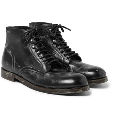 Dolce & Gabbana - Distressed Leather Boots
