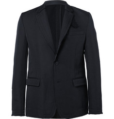 Sacai Blue Slim-Fit Unstructured Twill Blazer