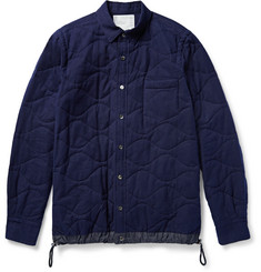 Sacai Shell-Trimmed Quilted Cotton Shirt