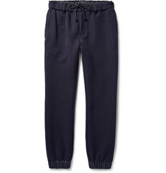 Sacai Tapered Shell-Trimmed Cotton-Blend Jersey Sweatpants