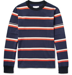 Sacai Striped Cotton-Jersey T-Shirt