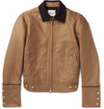 TAKAHIROMIYASHITA TheSoloist. - Slim-Fit Corduroy-Trimmed Wool and Silk-Blend Bomber Jacket
