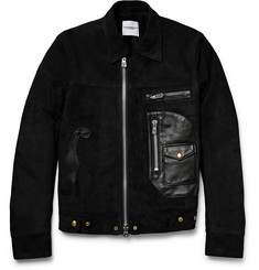 TAKAHIROMIYASHITA TheSoloist. - Shearling-Lined Leather and Suede Jacket