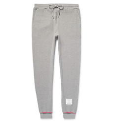 Thom Browne Tapered Waffle-Knit Cotton Sweatpants