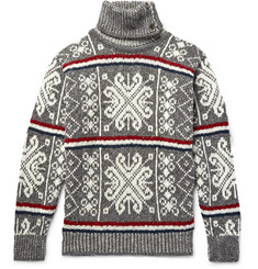 Thom Browne Fair Isle Wool and Mohair-Blend Rollneck Sweater