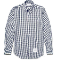 Thom Browne Slim-Fit Button-Down Collar Gingham Cotton Shirt