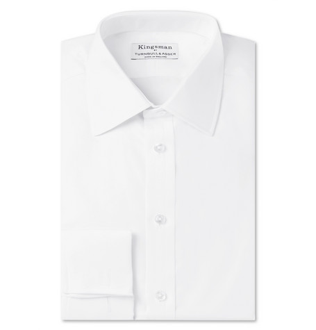 + Turnbull & Asser White Double-cuff Cotton-twill Shirt - White