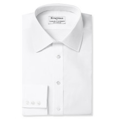Kingsman - + Turnbull & Asser White Cotton Royal Oxford Shirt