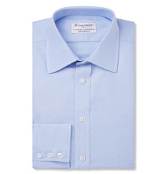 Kingsman-+ Turnbull & Asser Blue Cotton Royal Oxford Shirt