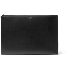 Saint Laurent Grained-Leather Document Holder