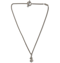 Saint Laurent Dollar Sterling Silver Necklace