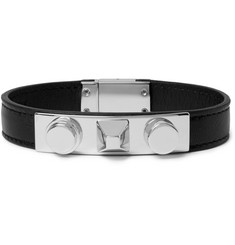 Saint Laurent Leather and Silver-Tone Bracelet