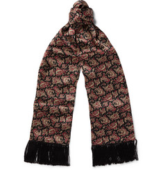Saint Laurent Paisley-Print Silk Scarf