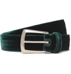 Saint Laurent 2.5cm Green Velvet Belt