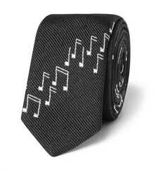 Saint Laurent 4cm Musical Note Silk-Twill Tie