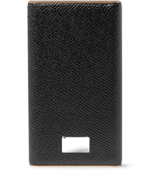 Dolce & Gabbana Pebble-Grain Leather Smartphone Charger