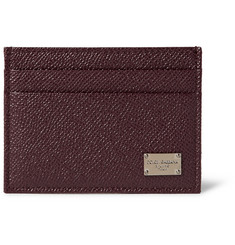 Dolce & Gabbana - Pebble-Grain Leather Cardholder