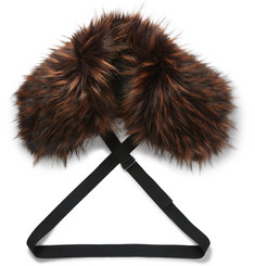 Dries Van Noten Faux Fur Collar