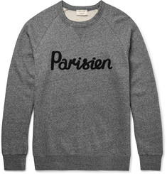 Maison Kitsuné Slim-Fit Appliquéd Fleece-Back Cotton-Jersey Sweatshirt