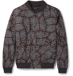 A.P.C. Slim-Fit Paisley-Print Cotton Bomber Jacket