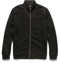 A.P.C. - Loopback Cotton-Blend Jersey Zip-Up Sweatshirt