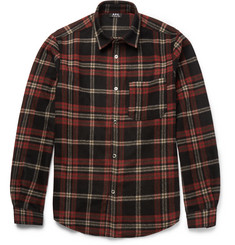 A.P.C. Checked Wool-Blend Flannel Overshirt