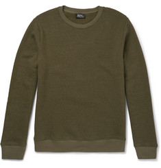 A.P.C. Slim-Fit Washed Cotton-Blend Jersey Sweatshirt