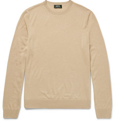 A.P.C. Merino Wool and Silk-Blend Sweater