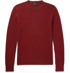 A.P.C. Ribbed Wool-Blend Sweater