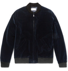 A.P.C. Louis W Cotton-Velvet Bomber Jacket