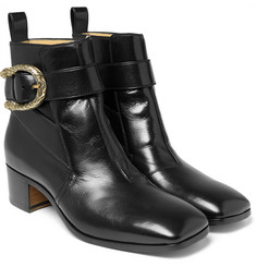 Gucci Leather Jodhpur Boots