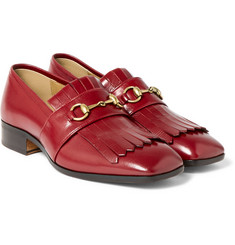 Gucci - Gran Duca Horsebit Grained-Leather Kiltie Loafers