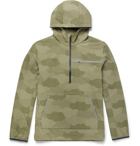 + Outdoor Voices Camouflage-print Ripstop Hooded Jacket