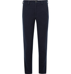 Blue Blue Japan - Slim-Fit Stretch Cotton and Wool-Blend Flannel Trousers