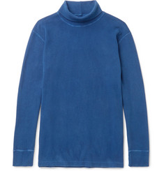 Blue Blue Japan - Indigo-Dyed Stretch-Cotton Rollneck T-Shirt