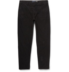 Blue Blue Japan Slim-Fit Tapered Cropped Cotton-Moleskin Trousers