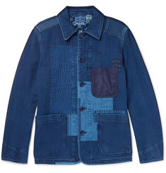 Blue Blue Japan Slim-Fit Patchwork Cotton Jacket