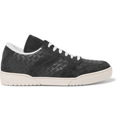 Bottega Veneta Suede-Trimmed Intrecciato Leather Sneakers