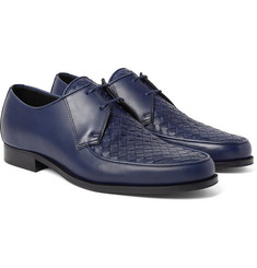 Bottega Veneta - Intrecciato-Panelled Leather Derby Shoes
